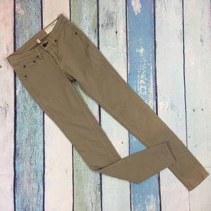 Rag & Bone Tan Skinny Denim Legging Jeans 24